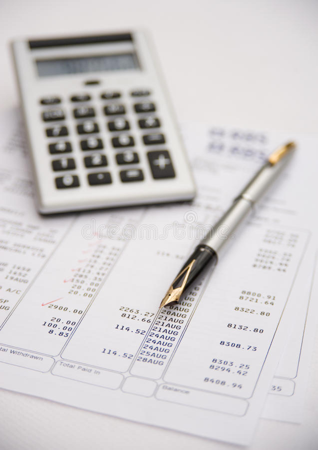 Financial assessment . royalty free stock photography