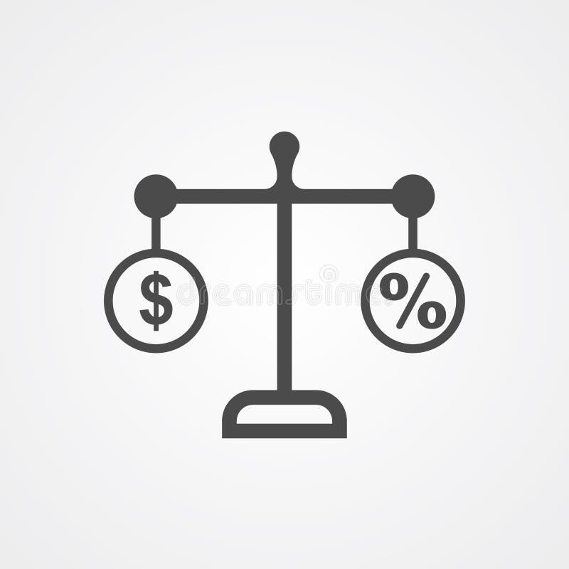 Financial balance vector icon sign symbol royalty free illustration
