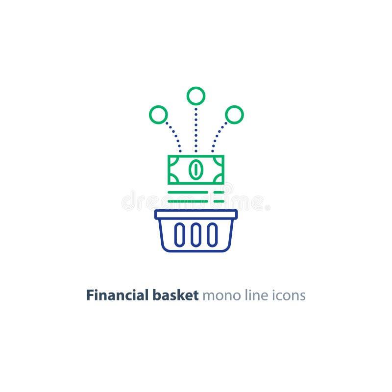 Financial Basket Investment Portfolio Concept Budget Plan Revenue
