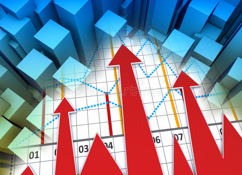 Business chart. Financial and business chart and graphs royalty free stock photos