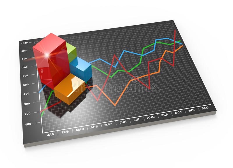 Download Financial Business Chart And Graphs Stock Illustration - Image: 33254175