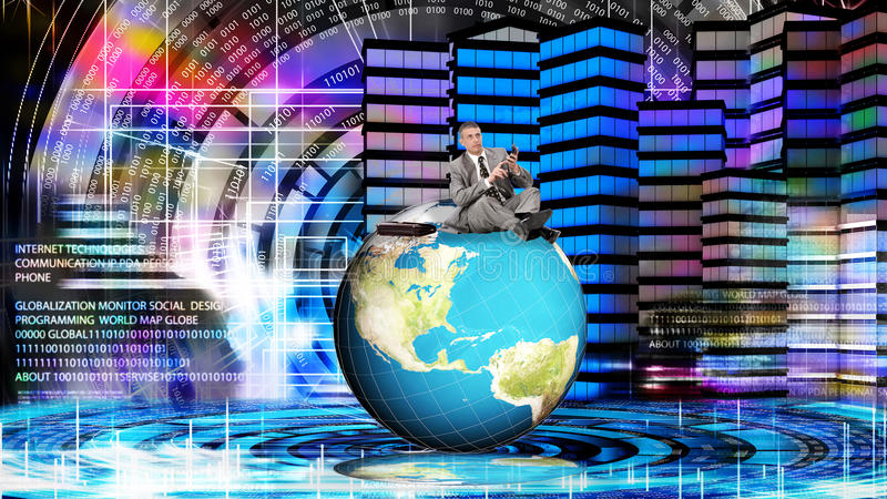 Financial business. Globalization Money with internet technology royalty free stock photography