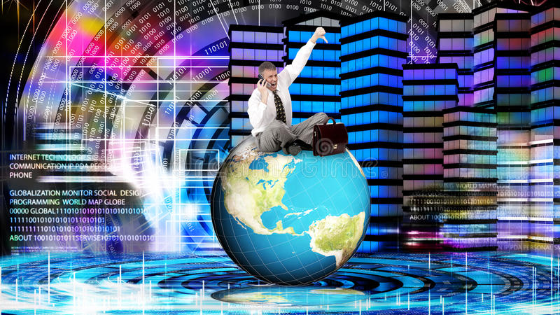 Financial business. Globalization Money. Risk investment royalty free stock images
