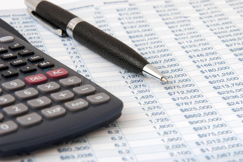 Download Financial Calculator Stock Photography - Image: 24651082