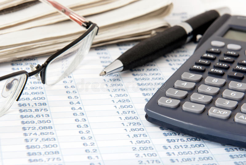 Download Financial calculator stock image. Image of ballpoint - 24651111
