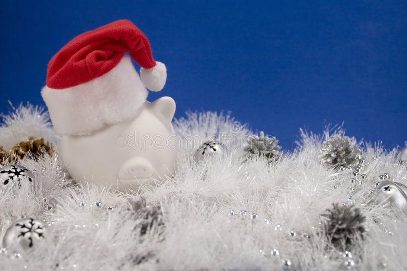 Financial Christmas Background Royalty Free Stock Photo