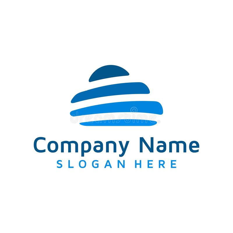 Financial cloud logo design royalty free illustration