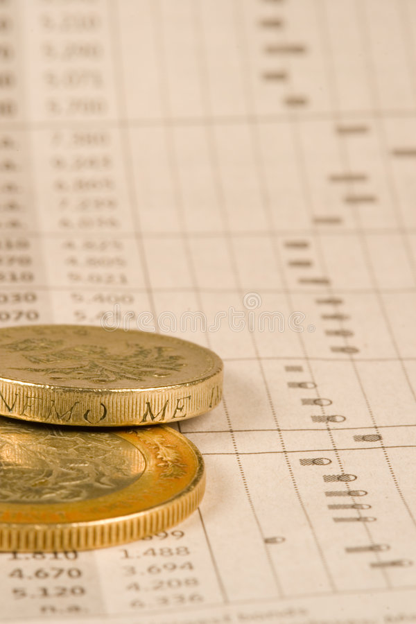 Financial Coins stock photography