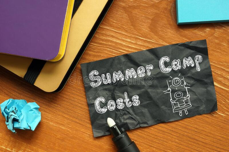 Financial Concept Meaning Summer Camp Costs With Phrase On The Sheet Stock  Image - Image of economy, donation: 189902469