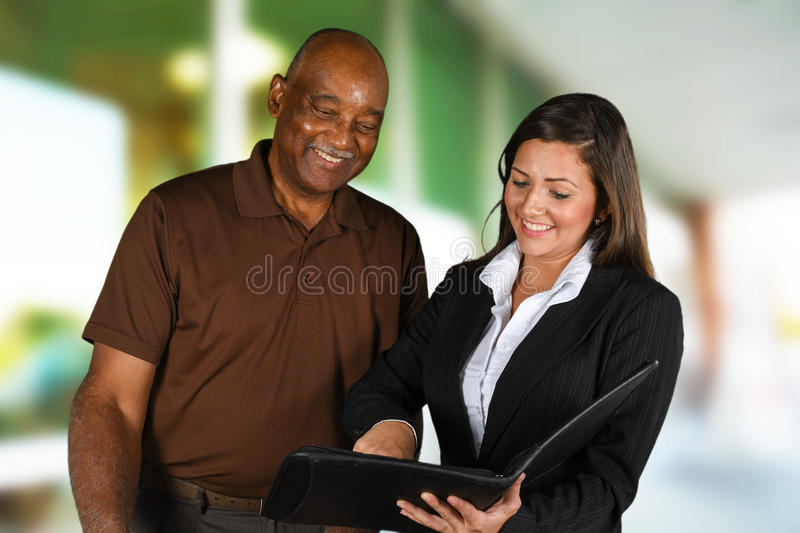 Financial Counseling. Person in need having a financial counseling session royalty free stock photo