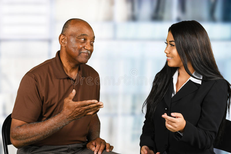 Financial Counseling Sessino royalty free stock photography