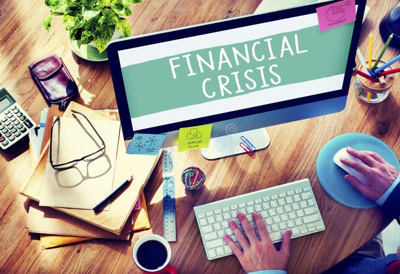 Financial Crisis Bankruptcy Depression Finance Concept.  stock image