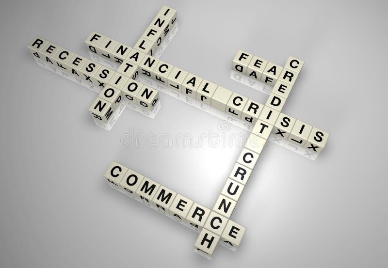 Download Financial Crisis Block Puzzle 1 Stock Illustration - Image: 13607998