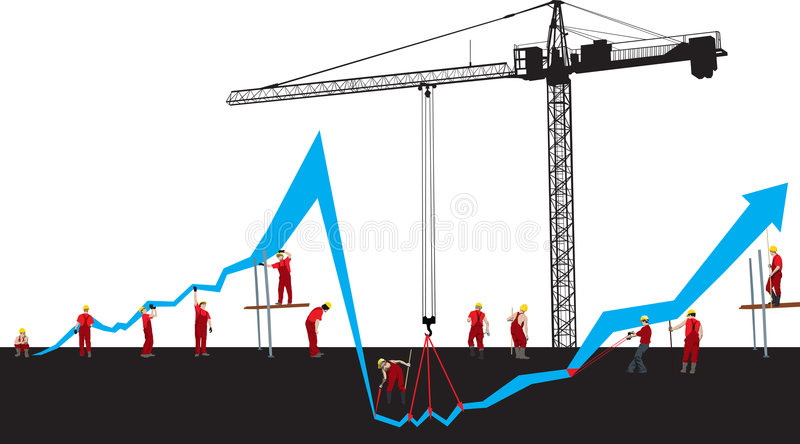 Financial Crisis Graph Royalty Free Stock Photo