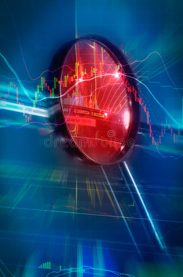 Financial crisis stock chart. In bullish concept royalty free stock images