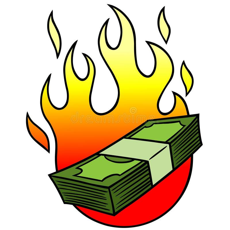 Financial Crisis. A vector illustration of a Financial Crisis concept vector illustration