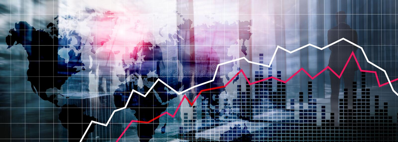 World Maps Financial Crysis Recession Economic concept. Financial Crysis Recession Economic concept stock photo