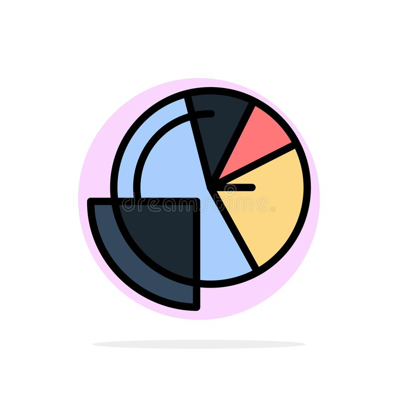 Financial Data, Analysis, Analytics, Data, Finance Abstract Circle Background Flat color Icon stock illustration