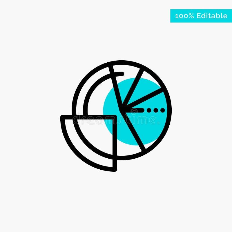 Financial Data, Analysis, Analytics, Data, Finance turquoise highlight circle point Vector icon stock illustration
