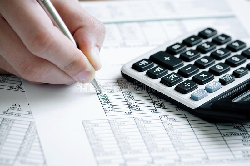 Download Financial Data Analyzing. Royalty Free Stock Image - Image: 9379726