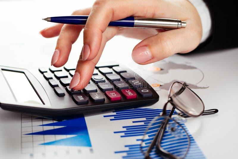 Financial data analyzing. On the white royalty free stock photos