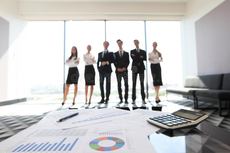 Financial data and business people stock images
