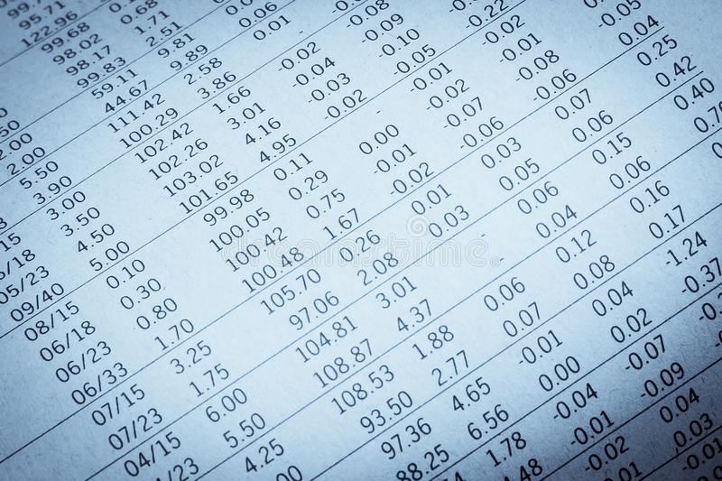 Download Financial Data In A Newspaper Stock Photo - Image: 33989334