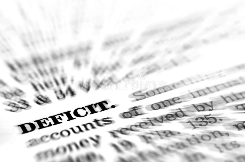 Amazing Download Financial Deficit Definition Stock Image   Image Of Creditor,  Debtor: 38443363