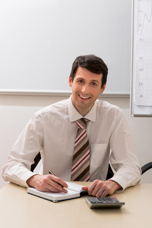 Financial director at work. Manager prepares the financial report stock photography