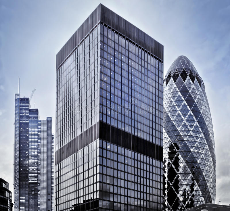 Financial District. Famous skysrcapers in the financial district of London stock photography