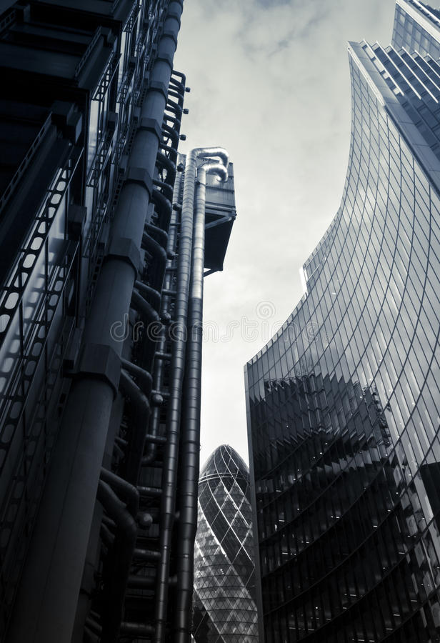 Financial District. Famous skysrcapers in the financial district of London royalty free stock image