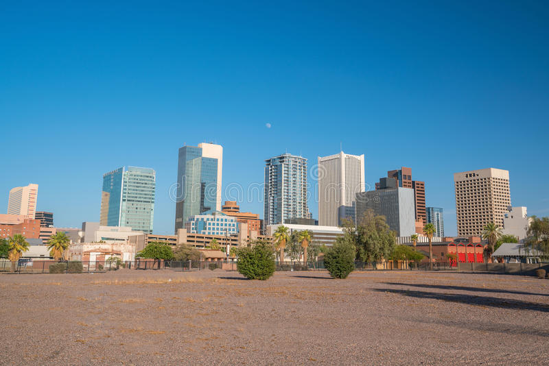 Financial district area of downtown Phoenix Arizona. In USA stock image