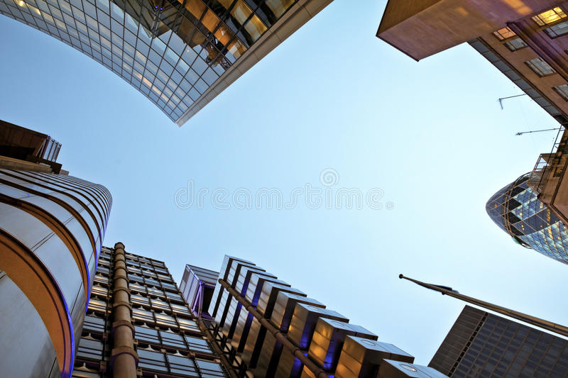 Financial district of London royalty free stock photos