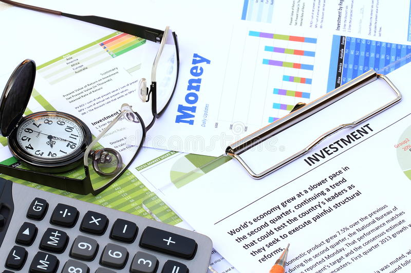 Financial and economic news. Update stock photo