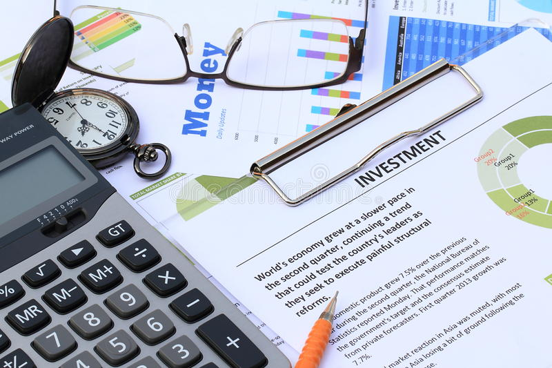 Financial and economic news update. Money and investment news update analysis stock image
