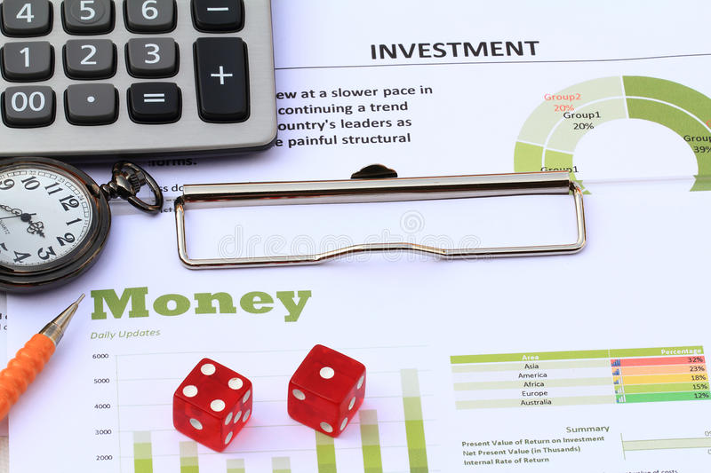 Financial and economic news update. For risk mangement stock photos