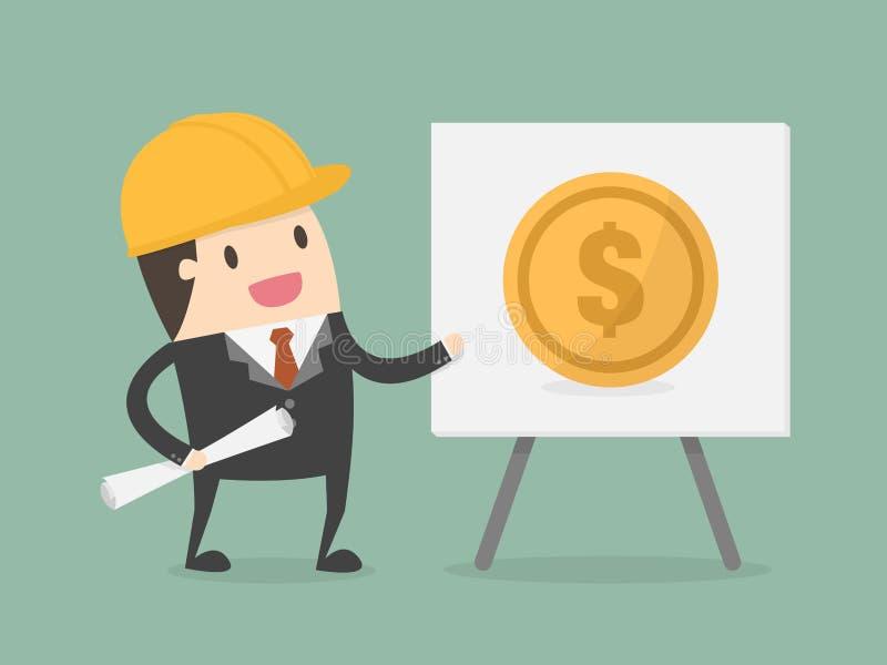 Financial Engineering. Business Concept Illustration vector illustration