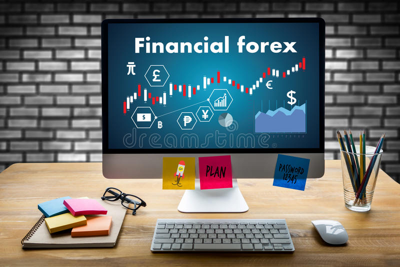 Financial forex Stock market, financial, business Candle stick g stock photography