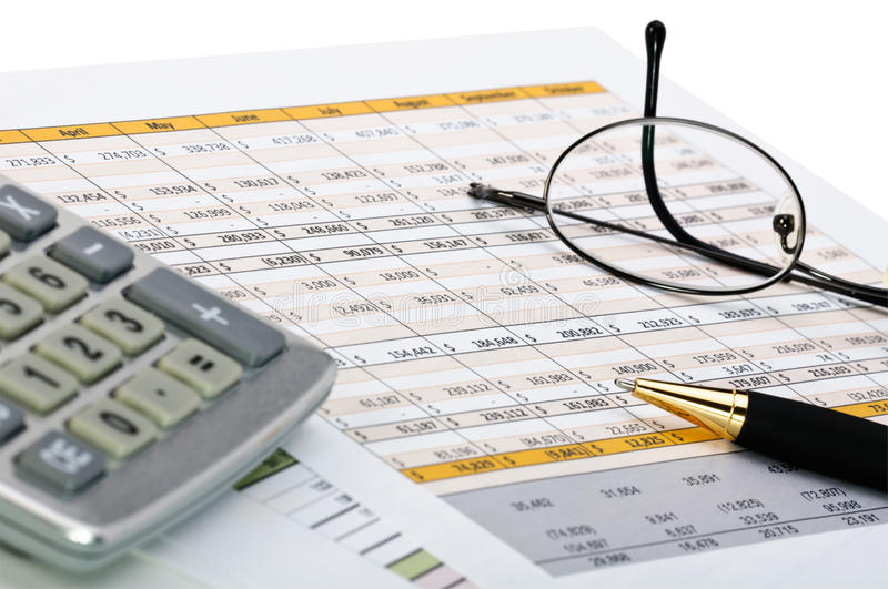 Financial forms. royalty free stock image