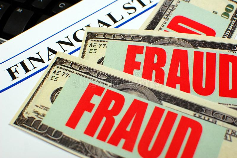 Financial Fraud stock image
