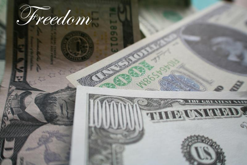 Financial Freedom With 7 Figures In Bills High Quality royalty free stock image