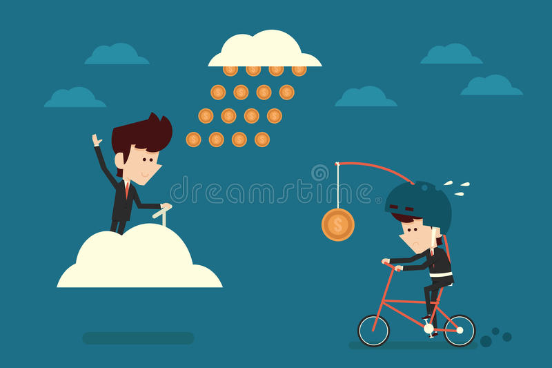 Financial freedom stock illustration