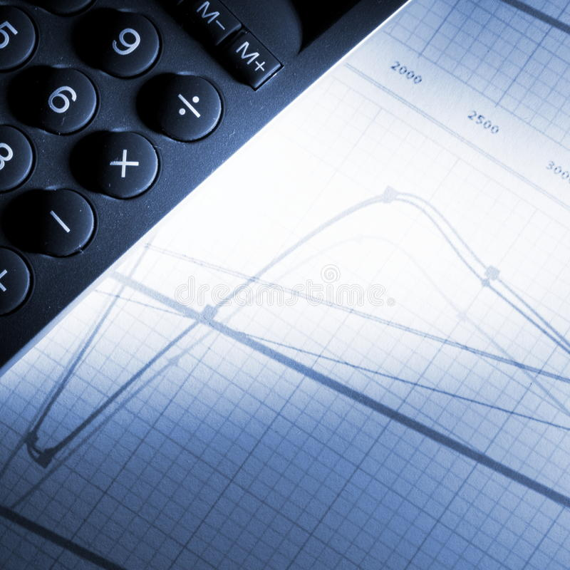 Financial graph royalty free stock photos