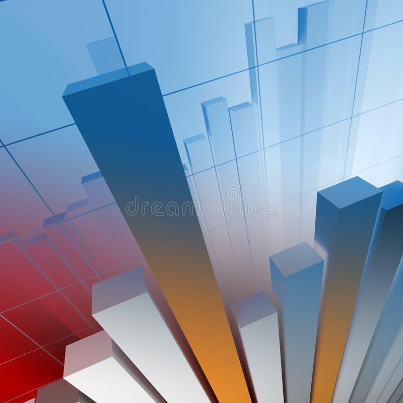 Financial graph royalty free illustration