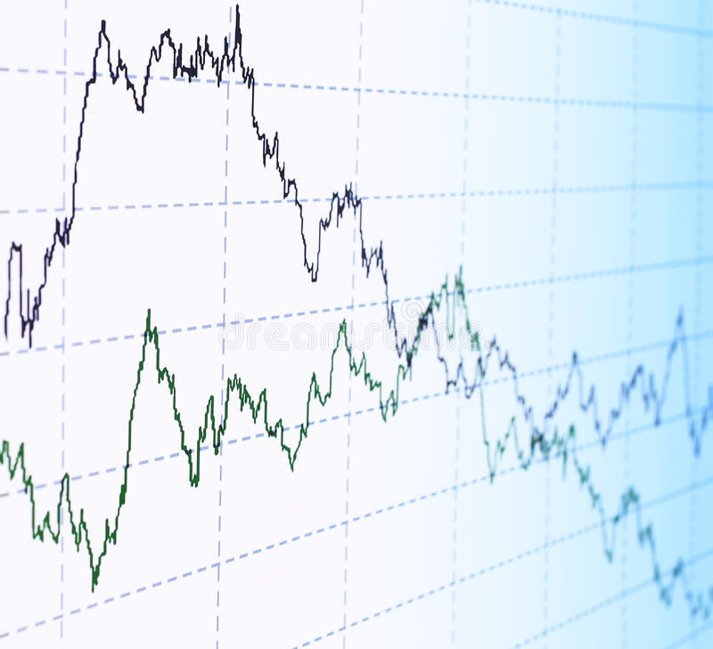Financial graph abstract stock photo