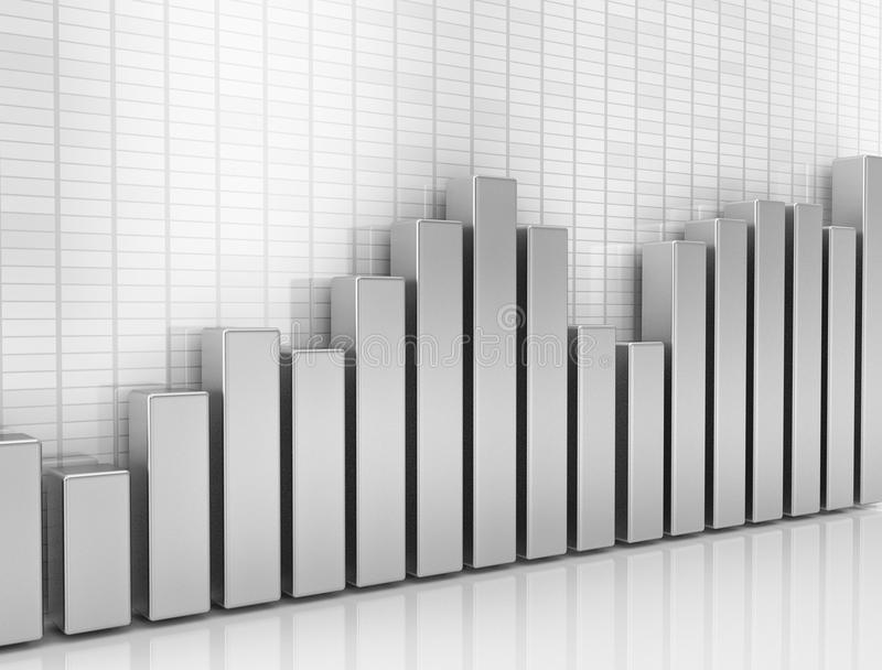 Financial graph business background stock image