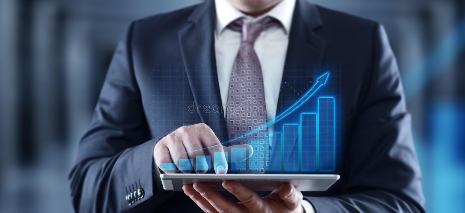 Financial Graph. Stock Market chart. Forex Investment Business Internet Technology concept royalty free stock photography