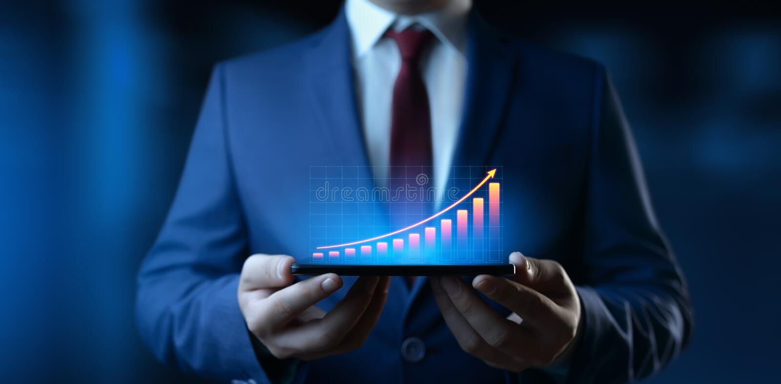 Financial Graph. Stock Market chart. Forex Investment Business Internet Technology concept.  stock photography