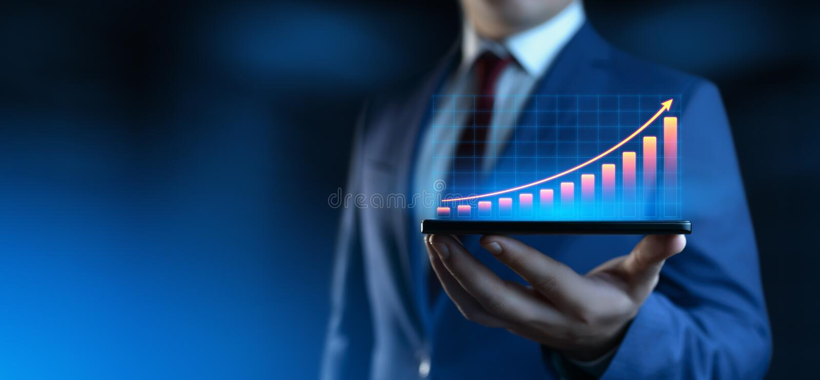 Financial Graph. Stock Market chart. Forex Investment Business Internet Technology concept.  royalty free stock photo