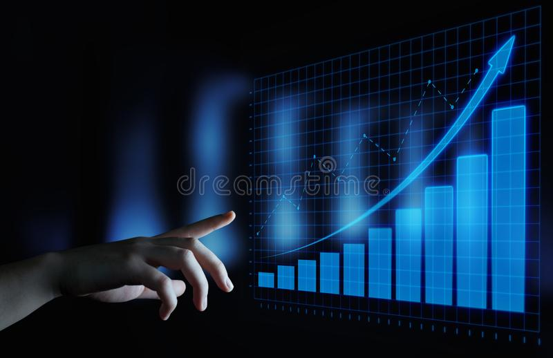 Financial Graph. Stock Market chart. Forex Investment Business Internet Technology concept.  stock photos